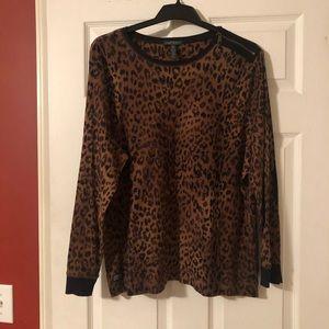 Ralph Lauren Cheetah Long Sleeve Top